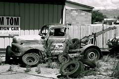 Tow Truck (ilikeexploring) Tags: old cars graveyard car truck junkyard tow towtruck