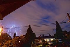 Electric Sky Monster Lightning (d30n5) Tags: longexposure nightphotography oregon portland nikon nightsky lightning superwideangle d90 lightningstorm tokina1224mm atx124afprodx thunderportland