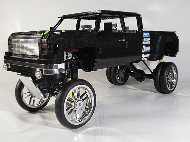 truck lego sierra chrome dub gmc dually 30inchrim