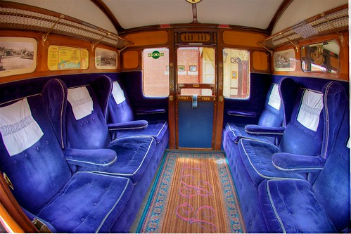 (1711) Railway Romance,  train interior, Bluebell Railway