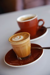 Piccolo Caffe Latte, Long Black Coffee AUD3.80 each - NSHRY (avlxyz) Tags: coffee restaurant cafe drink caffelatte piccolo latte caffe blackcoffee longblack camposcoffee piccololatte longblackcoffee piccolocaffelatte nshry
