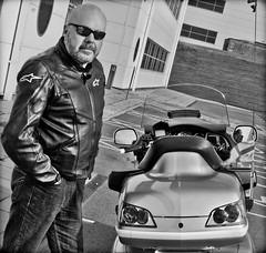 Shades and Leather. And bikes (CWhatPhotos) Tags: pictures park uk england leather bike canon honda silver that lens stars photography eos big foto with spectrum image artistic zoom pics north wing picture motorcycles bikes pic images shades east business have jacket alpine photographs photograph fotos 7d motorcycle 1800 usm dslr which ef 1740mm f4 contain goldwing gl dawdon seaham tourer lseries gl1800 f4l spectrumbusinesspark cwhatphotos