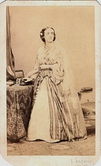 Portrait of a lady dressed for a masquerade ball in Vienna (Andrei George) Tags: vienna wien old lady vintage cdv angerer ludwigangerer