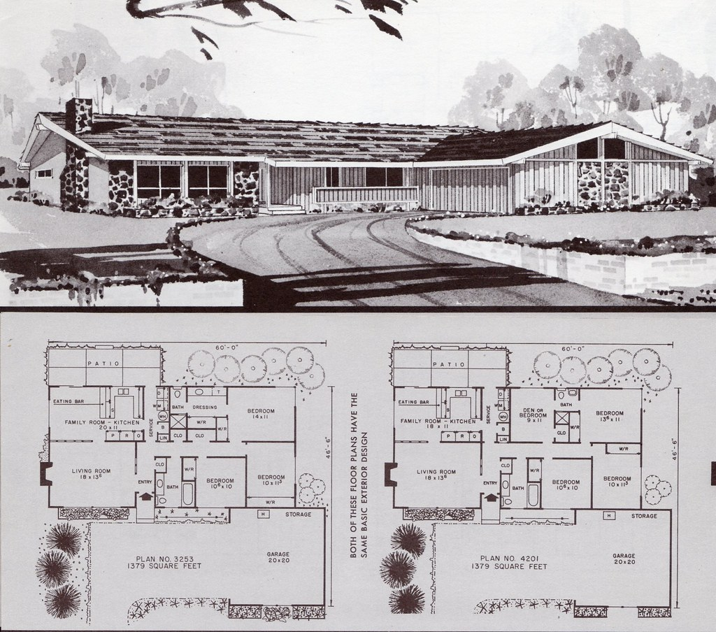 The world 39 s best photos of 1960s and homeplans flickr for 1960s ranch house plans