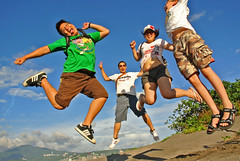 Yoo... Hoo.... Jump  XD (Capelle Panda -- try to catch up) Tags: bali jump taiwan pancake   10mm nikon1   nikon1v1 capellepanda
