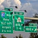 Overhead signs atop Interstate 15