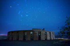 Orion and Stonehenge (Gary Randall) Tags: sky monument night stars washington goldendale worldwari galaxy stonehenge orion samhill constellation columbiarivergorge maryhill orionsbelt dsc49903