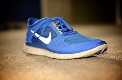Nike (BealeSt32) Tags: blue portrait basketball shoe 50mm athletic nikon shoes track running nike f nikkor 18 adidas beginner swoosh tennisshoes d7000