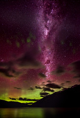 Our Galaxy over Queenstown (Stuck in Customs) Tags: new city travel newzealand lake southwest green night digital way stars photography bay town blog high village purple dynamic stuck pacific july atmosphere science resort photoblog zealand galaxy software aurora processing mysterious southisland otago queenstown astronomy imaging region range milky aotearoa wakatipu australis hdr tutorial trey particles magnetic travelblog 2012 meteorology customs southernlights ratcliff meteorological tewaipounamu hdrtutorial stuckincustoms treyratcliff photographyblog stuckincustomscom nikond800 tewakaamaui