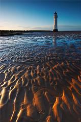 Patterns in the sand......... (Chrisconphoto) Tags: lighthouse seascape liverpool cliche newbrighton oldy donetodeath perchrock
