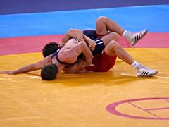 Greco-Roman Wrestling (pompey shoes) Tags: man male men london wrestling rings olympics unionjack wrestlers lycra 2012 bulge grecoroman