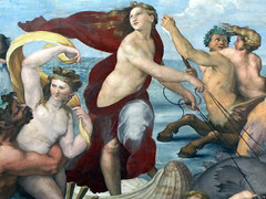 Raphael, Galatea, detail with Galatea