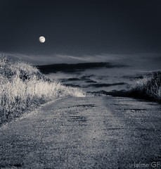 Moon (Explored) (Jaime GF) Tags: road bw moon spain nikon carretera asturias luna bn gozn d7000 bestcapturesaoi elitegalleryaoi mygearandme