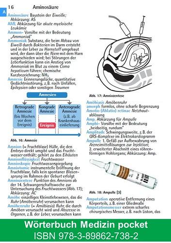 Wörterbuch Medizin pocket : Kleines Lexikon : Medizinische ...