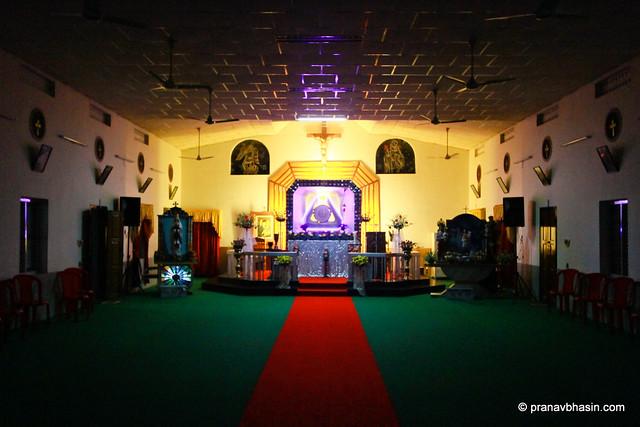 Magnificent Church At Night  in Thekkady, Kerala