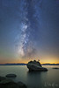 Bonsai Heavens (Willie Huang Photo) Tags: sky lake mountains nature night stars landscape nightscape scenic tahoe laketahoe sierra galaxy bonsai heavens milkyway bonsairock