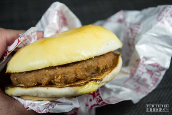 KFC Cheese Top Burger is not actually messy to handle and eat
