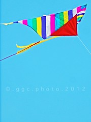 we flew kites in the beautiful sky... (ggcphoto) Tags: colorful bright tail bluesky kites flyakite sonyalpha sonydslr sonya390 gettyimagesirelandq12012 weflewkitesinthebeautifulsky