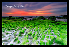 Newcastle South (Kiall Frost) Tags: ocean red color green beach water clouds sunrise newcastle nikon rocks surf australia nsw ripples leefilters d7000 kiallfrost
