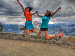Yay!  It's the weekend! (RobertCross1 (off and on)) Tags: woman girl clouds weekend olympus yosemite hdr glacierpoint omd m43 tonemapped em5 microfourthirds 1250mmf3563mzuiko
