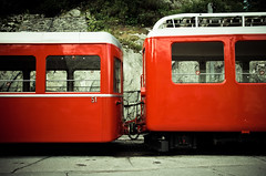 Mountain Train link (little ju !) Tags: red mountain france train chamonix montenvers littleju