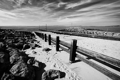 High Clouds Across The Bay (nigelhunter) Tags: high clouds across bay morecambe shore coast landscape groine fence slipway cirrus rocks