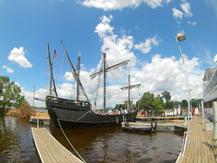 8 (theleakybrain) Tags: mokacam mokacam4k 2016071614110 columbus ships hudson wisconsin nina pinta tall wideangle actioncam indegogo