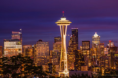 Seattle-Skyline-Wide-H-6R3-0784 (pchida) Tags: seattle spaceneedle nikonphotography landscapephotography architecturalphotography d5100 d5100photography 55200mm 55200 55200mmlens