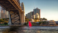 Red sail (Howie44) Tags: sydney sydneyharbour sydneyharbourbridge australia outdoors water