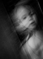 Transparant (Melpixx) Tags: girl portrait indoor bw blackwhite daughter ghostly lowlight transparant movement mysterious