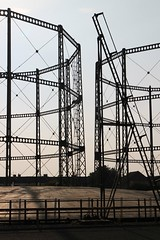 pure form (Towner Images) Tags: gasholder gasometer gasworks frame steel structure building column bracing structural silhouette aesthetic liverpool wavertree merseyside spofforthroad towner townerimages abandoned decaying