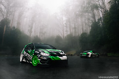 Armytrix Australia (VinhmanPhoto) Tags: green forest cars car armytrix exhaust audi gold volkswagon golf golfr r8 australia forza victoria melbourne vinhmangalino vinhmanphoto vinhman