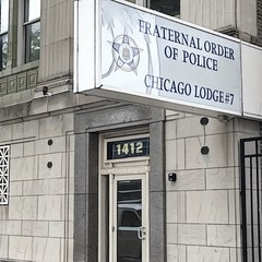 Fraternal Order of Police (Renee Rendler-Kaplan) Tags: chicago chicagoist chicagoillinois fraternalorderofpolice wbez chicagoreader outdoors outside building iphone iphoneography reneerendlerkaplan city august 2016 chicagolodge7 7 seven entryway doorway