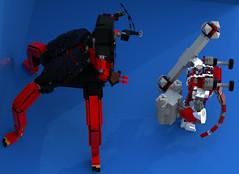 Lavaria vs Macy 3 - small (DraikNova) Tags: mecha mech lavaria nexoknights nexo legonexoknights lego moc lava demon beetle mace macy ldd legodigitaldesigner