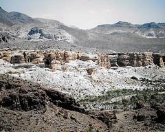 Arizona Landscape (Shot by Newman) Tags: rout66 southwest mojavedesert arizona nature rockformations shotbynewman moutains rocks landscape 35mm daylight fujifilm fuji400 view