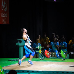 The hills are alive with the sound of music (MastaBaba) Tags: 20160821 brazil brasil rio riodejaneiro olympics olympicgames summerolympics sports worldrecord record cleanandjerk kazakhstan win winning winner dance dancing blue