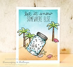 let is snow (somewhere else) card - ls, watermark (samanthamann11) Tags: lawnfawn lawnscapingchallengedesignteam distressinks distressmarkers watercolor christmascard lifeisgood snowybackdrops milosabcs letitsnow bugsandkisses frosties