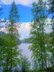 Rain (MikeAncient) Tags: hdr handheldhdr tonemap tonemapped 4exp sade rain kuhmoinen suomi finland isojrvi jrvi lake maisema maisemakuva maisemakuvaus landscape landscapephotography geotagged