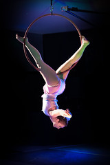 Aerial Hoops (robktkate) Tags: red dance hoops aerial showcase movement female performance performer woman beauty flexibility strength indoor handheld stage dancer pole hanging freestyle routine
