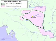 Карта княжеств паннонских славян