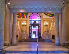Hartford Connecticut ~ Wadsworth Atheneum Museum of Art ~  Entrance ~ Lobby (Onasill ~ Bill Badzo) Tags: hartford ct conn connecticut downtown historic nrhp register onasill wadsworth atheneum museum art gallery european baroque french american impressionist paintings hudson river school landscape modernist masterpieces masters contemporary works furniture decorative arts uniitedstatesdaniel oldest building castle romanesque style architecture galleries hale nathan statue attraction site travel tourists outdoor gatehouse manor
