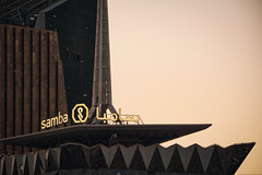 SAMBA Tower, Unique Beauty Aug-8-15 (Bader Alotaby) Tags: smba nikon d7100 riyadh skyscraper skyline cityscape nightscape ruh photography ksa gcc art architecture leed kafd sunset blue hour amazing 18200 1116 sigma samyang 8mm tokina supertall megatall cma hok kkia dxb dubai uae doh doha qatar bahrain manamah burj khalifah downtown city center modern rafal kempinski hotel flamingo sculpture chicago illinois usa travel summer loop central cta ord ny jfk kfnl kapsarc
