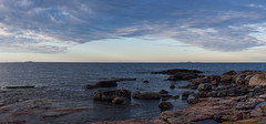Islet Panorama (Tuck Happiness) Tags: helsinki finland 2016 islet rocks shore landscape ocean clouds panorama