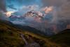 Wetterhorn after a massive thunderstorm (cyrillhaenni) Tags: wetterhorn schweiz grindelwald clouds bachalpsee sunset mountains hiking alps switzerland berner oberland