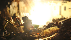 Blinding Light (Kyle Hardisty) Tags: kyle hardisty lego photography 2016 macro minifigure mini fig custom lighting depth field canon wwii world war brickarms brick arms grass dirt lakes california twigs rock rocks outdoor 1 bf1 battlfield battlefield british lee enfield wwi
