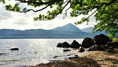 The banks of Loch Lomond (brightondj - getting the most from a cheap compact) Tags: scotland thetrossachs dslr lochlomond mountains water lake loch landscape inversnaid firstwalk beach shore summer2016 holiday summerholiday uk britain ukholiday
