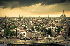 A view over Amsterdam (Anneke Jager) Tags: annekejager amsterdam skyline sky outdoor urban cityscape city