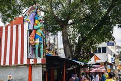 Green  Hanuman Strikes Again  - Bangalore (Anoop Negi) Tags: hanuman india temple statue iconography green hanumana bengaluru commercial street photo hinduism religion hindu epic ramayana anoop negi ezee123