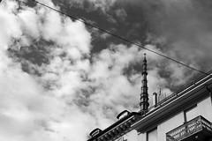 Urban triangle (alessandra.butti) Tags: urban city triangle triangolo sky clouds outdoor torino turin italy architecture architettura italia citt blackandwhite biancoenero bn bw nikond3200 street