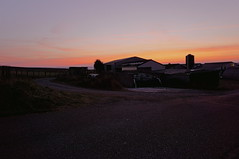 September Sunrise (lewist584) Tags: sonynex5r sigma19mmf28dn art longexposure sunrise ardennes agriculture eisleck emount farm morning road luxembourg lieler lewist584 polachrome gimp gmic